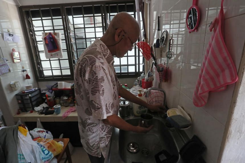 Mr Goh Hee Seng, 66, is among those from more than 4,000 households which have received financial support under the long-term assistance in the last financial year.