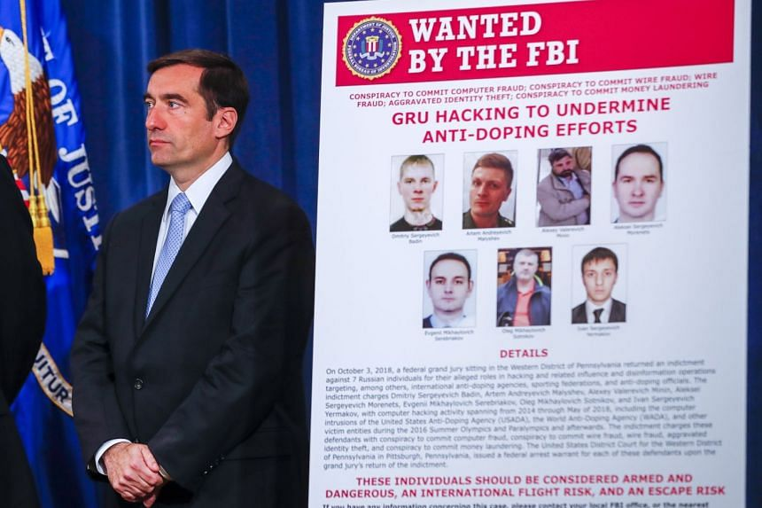 John Demers announces criminal charges against seven Russian Federation intelligence officers.
