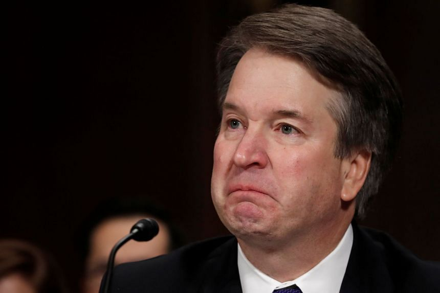 Kavanaugh becomes emotional as he testifies before a Senate Judiciary Committee confirmation hearing.