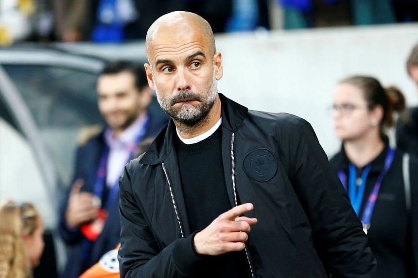 Manchester City manager Pep Guardiola before City's Champions League match against Hoffenheim.