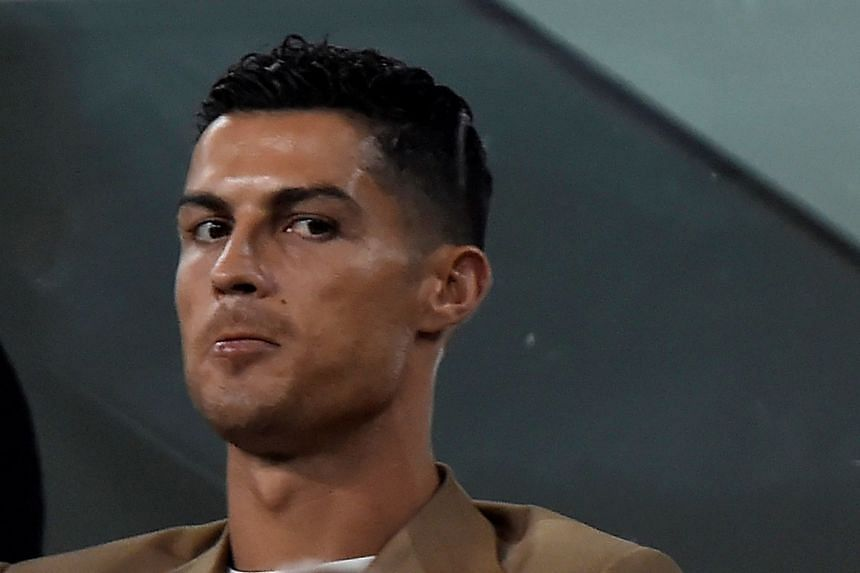 Ronaldo in the stands as Juventus play Young Boys on Oct 2, 2018, in the Champions League.