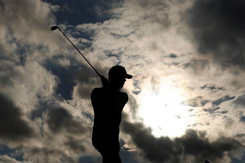 A silhouette of South Africa's Brandon Stone during the first round.