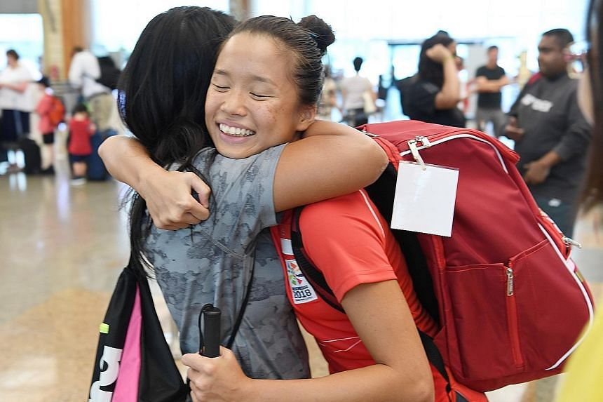 Para swimmer Sophie Soon is part of the final group of Singapore's 44-strong contingent to leave for the Asian Para Games yesterday.