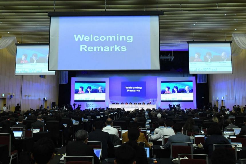 Delegates and experts attend the opening ceremony of the 48th session of the Intergovernmental Panel on Climate Change in Incheon, on Oct 1, 2018.