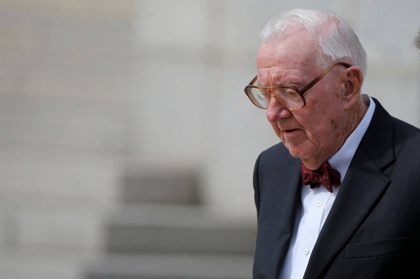 Retired US Supreme Court Justice John Paul Stevens (pictured) said that Brett Kavanaugh's performance during a recent Senate hearing suggested he lacks the temperament for the high court.
