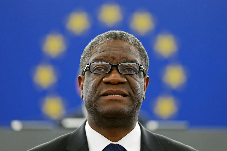 File photo of Congolese gynaecologist Denis Mukwege during an award ceremony for the 2014 Sakharov Prize in Strasbourg, France, on Nov 26, 2014.
