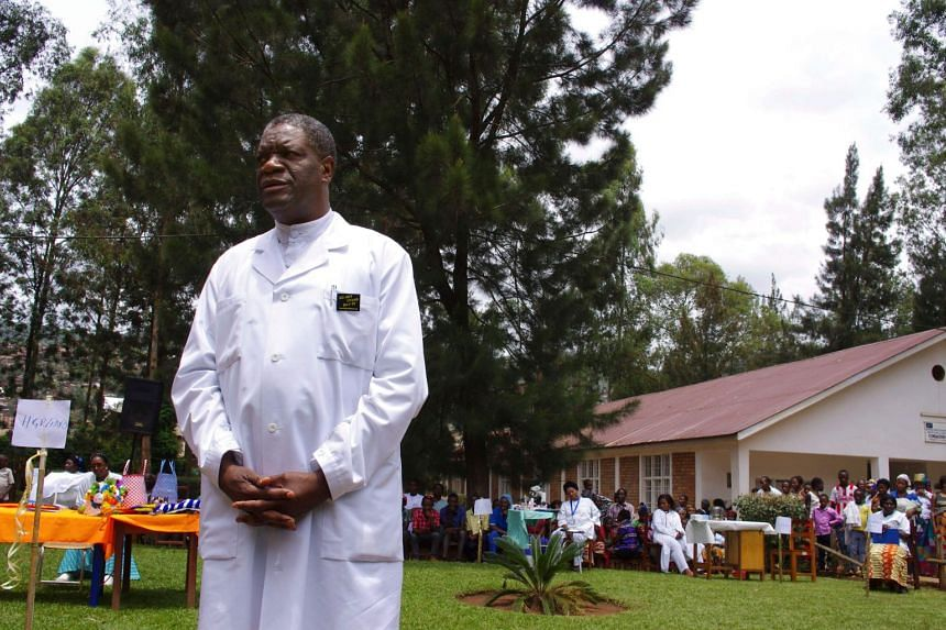 Congolese gynaecologist Denis Mukege at Panzi Hospital, in the outskirts of Bukavu, on March 18, 2015.