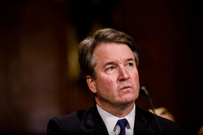 Brett Kavanaugh testifies in front of the Senate Judiciary committee regarding sexual assault allegations at the Dirksen Senate Office Building on Capitol Hill in Washington DC, US, on Sept 27, 2018.