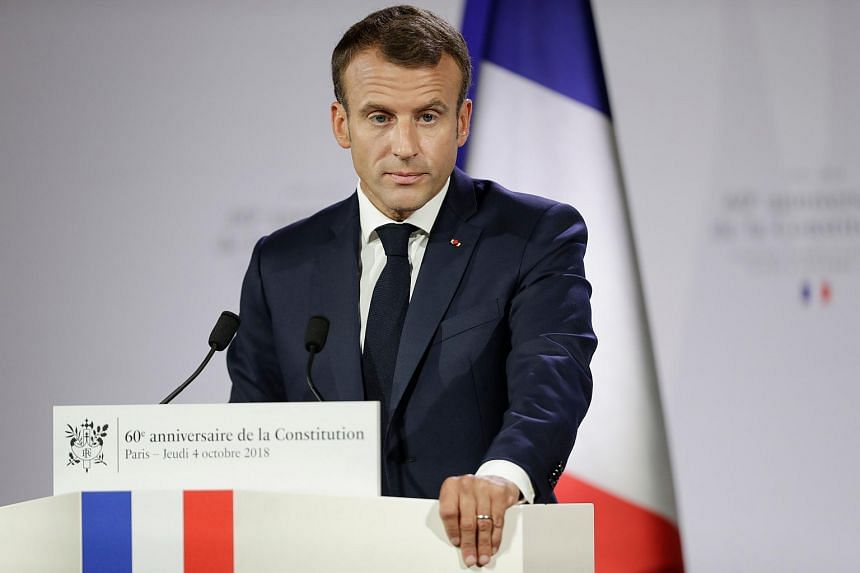 France's President Emmanuel Macron made his comments after speaking to a pensioner who complained he only had a small pension.
