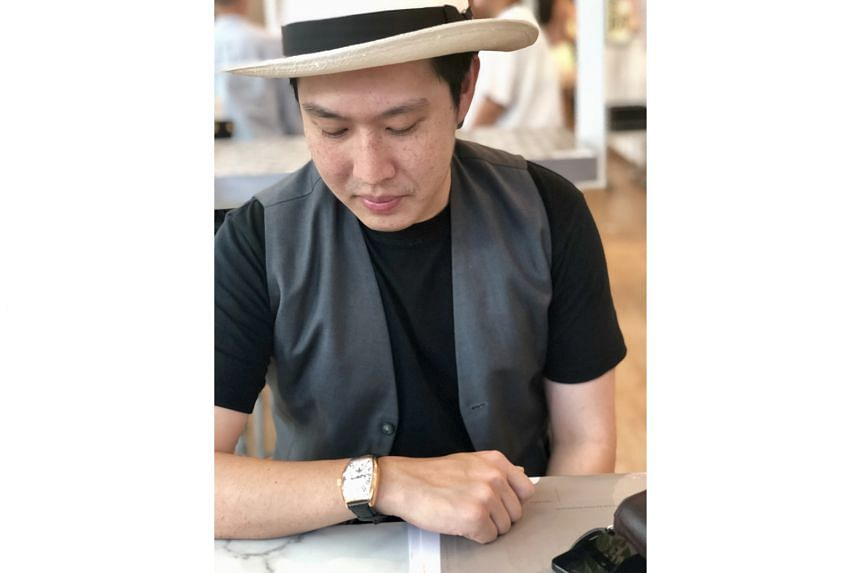 Mr Nelson Lee likes that the Franck Muller Cintree Curvex Master Banker has three time zones controlled by a single crown.
