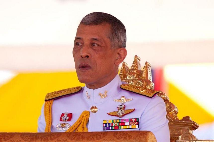 File photo of Thailand's King Maha Vajiralongkorn presiding over the annual royal ploughing ceremony outside Bangkok's royal palace, on May 14, 2018.