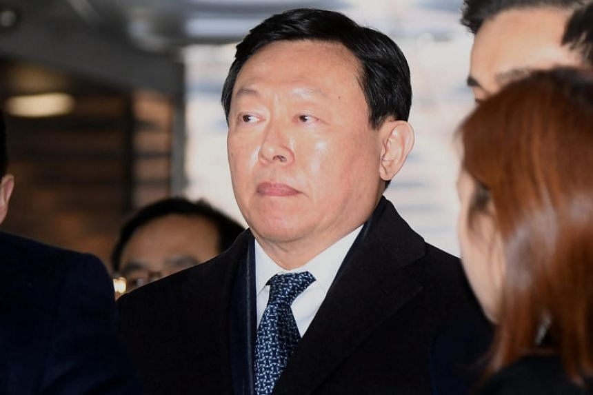 Lotte Group chief Shin Dong-bin had been jailed in February 2018 for corruption.