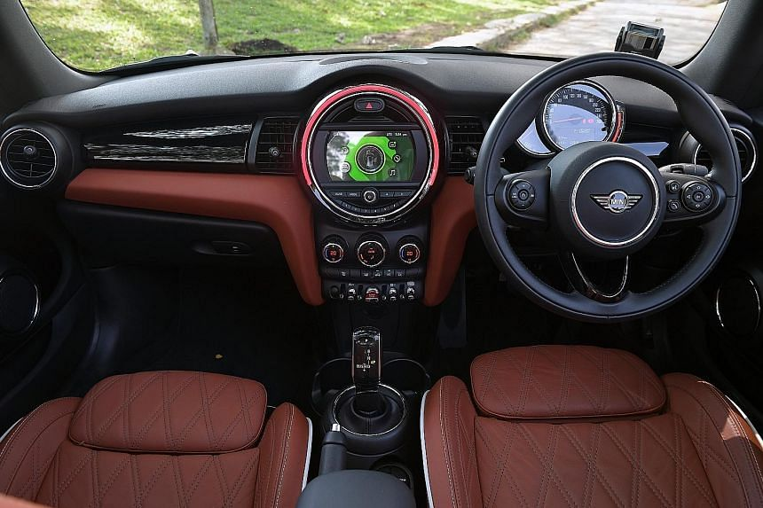 The new shift lever operates like a joystick.