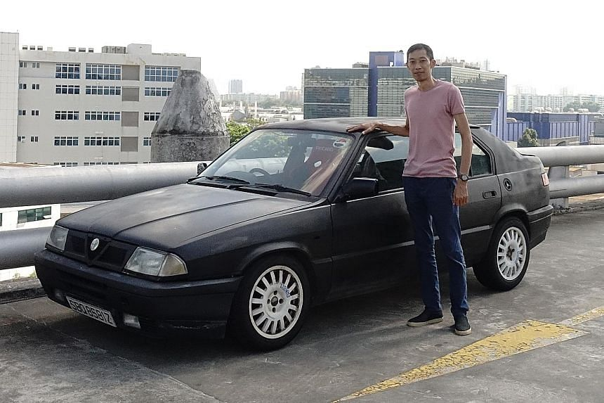 Mr Christopher Chow drives a 1992 Alfa Romeo 33, which is believed to be the only one left in Singapore.