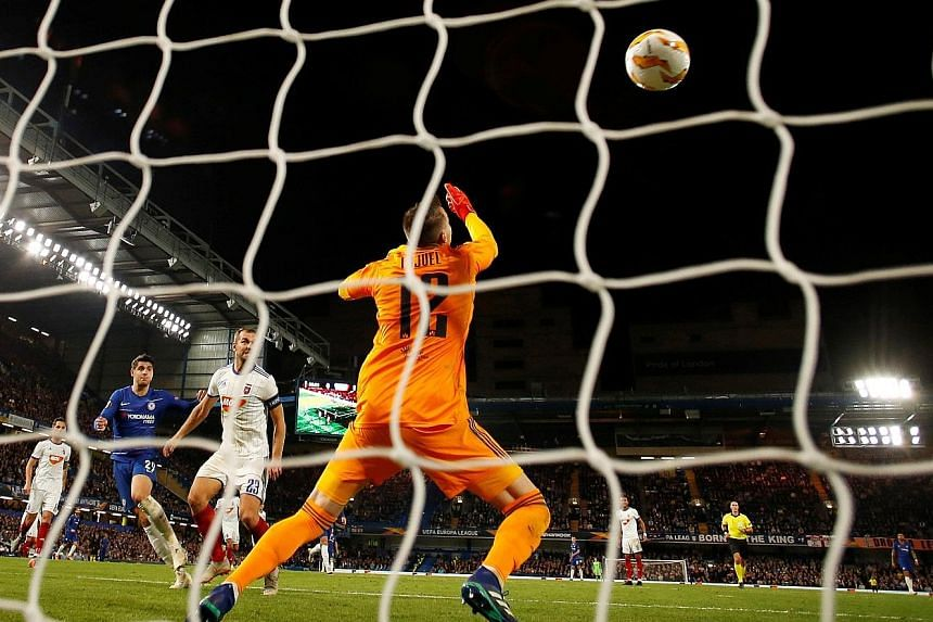 Chelsea striker Alvaro Morata rueing a miss against Hungarian champions Vidi in the Europa League Group L match at Stamford Bridge on Thursday. But the Spaniard made amends in the 70th minute when he scored to give the Blues a 1-0 win.