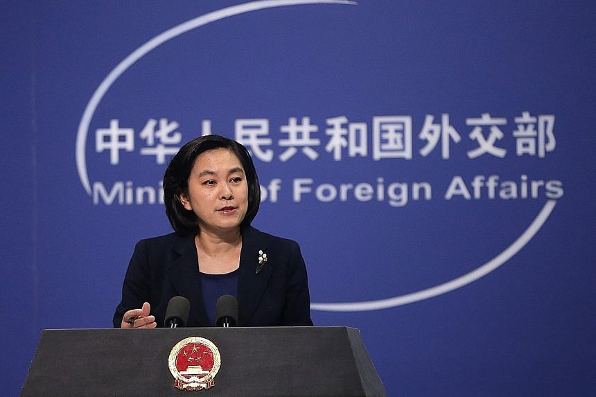 CHINESE FOREIGN MINISTRY SPOKESMAN HUA CHUNYING .