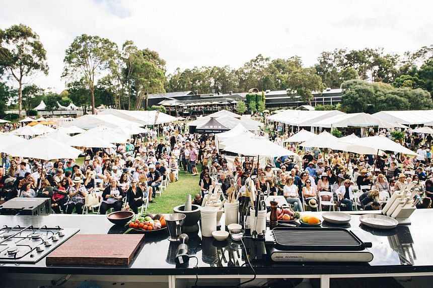Highlights at the Margaret River Gourmet Escape in Perth include supper with celebrity chef Nigella Lawson (above, left). Readers of The Straits Times have a chance to win the experience for two worth $10,000.