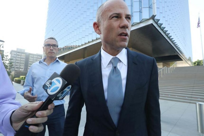 Mr Michael Avenatti (pictured) played a major role in eventually getting Mr Donald Trump's former lawyer Michael Cohen to implicate the President in a federal crime.