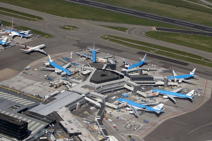 The scuffle broke out over Germany, about half and hour before the KLM flight was to land at Schiphol airport near Amsterdam.