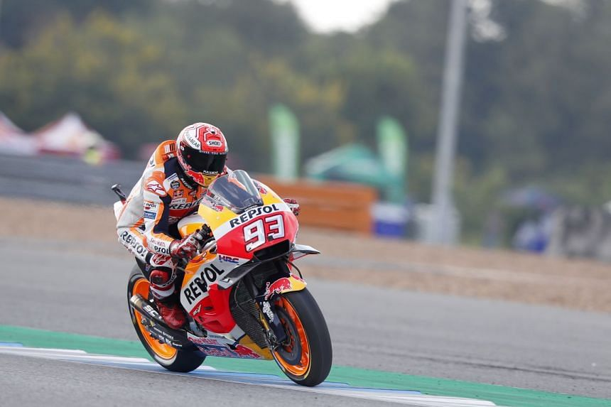 Marc Marquez had to fight his way through the first qualifying session after a crash in practice, but in Q2 he stormed to a time of 1min 30.088sec for his 50th pole.