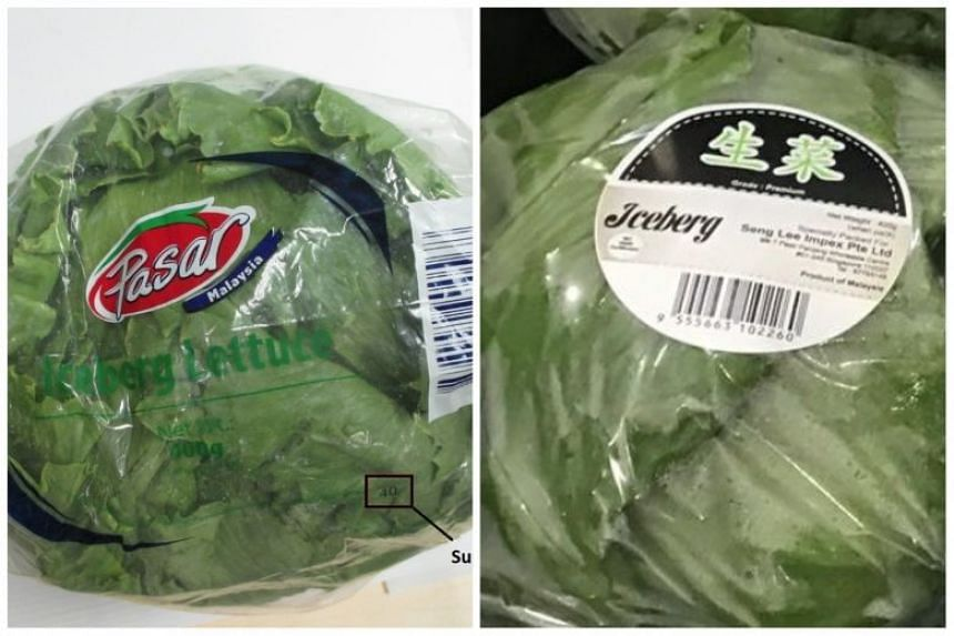 The authorities had issued a recall of the lettuce sold at FairPrice and Sheng Siong supermarkets on Oct 4, 2018.