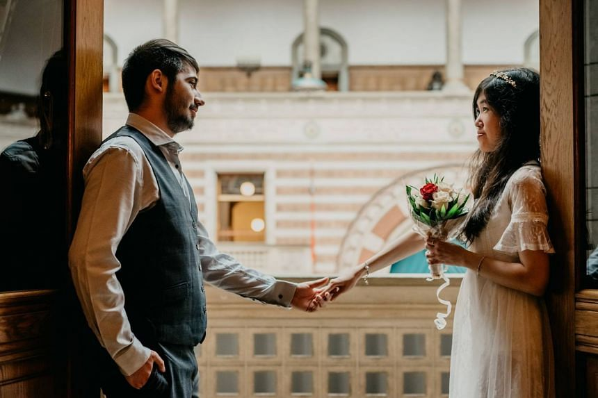Ms Cheryl Yap Lay Leng and Mr Alexandru Donea had been in a long-distance relationship for more than two years before meeting for the first time in February 2016. PHOTO: FACEBOOK/DONEA IONUT ALEXANDRU