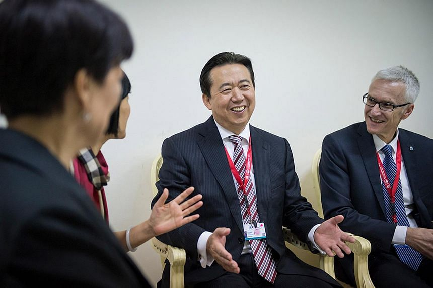 The wife of Interpol head Meng Hongwei contacted police in Lyon after not hearing from her husband since he travelled to China on Sept 29, 2018.