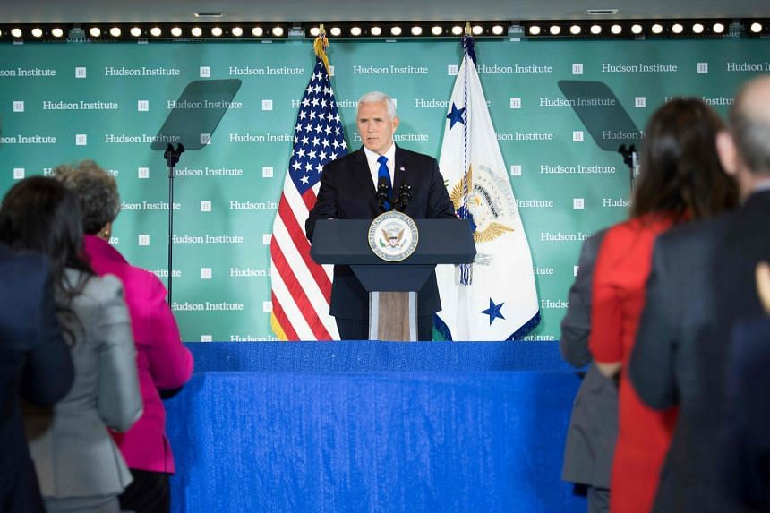 Analysts saw US Vice-President Mike Pence's remarks at the Hudson Institute in Washington as tough but fair.