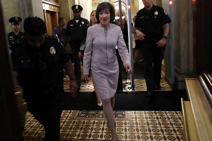 Senator Susan Collins defended Judge Kavanaugh and lambasted liberal activists and senators, whom she argued never gave the nominee a fair shake.