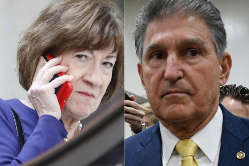 Collins (keft) and Manchin said the allegations against Brett Kavanaugh were unproven.