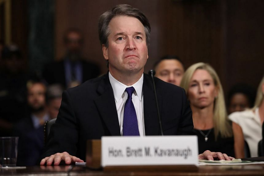 Kavanaugh testifies during the Senate Judiciary Committee hearing on his nomination.