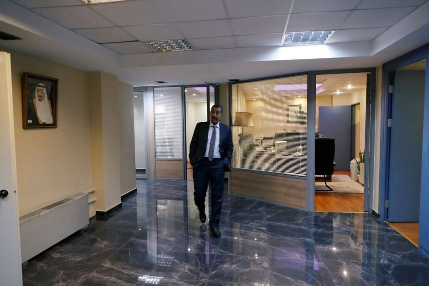 Consul General of Saudi Arabia Mohammad al-Otaibi gives a tour of Saudi Arabia's consulate in Istanbul, Turkey.