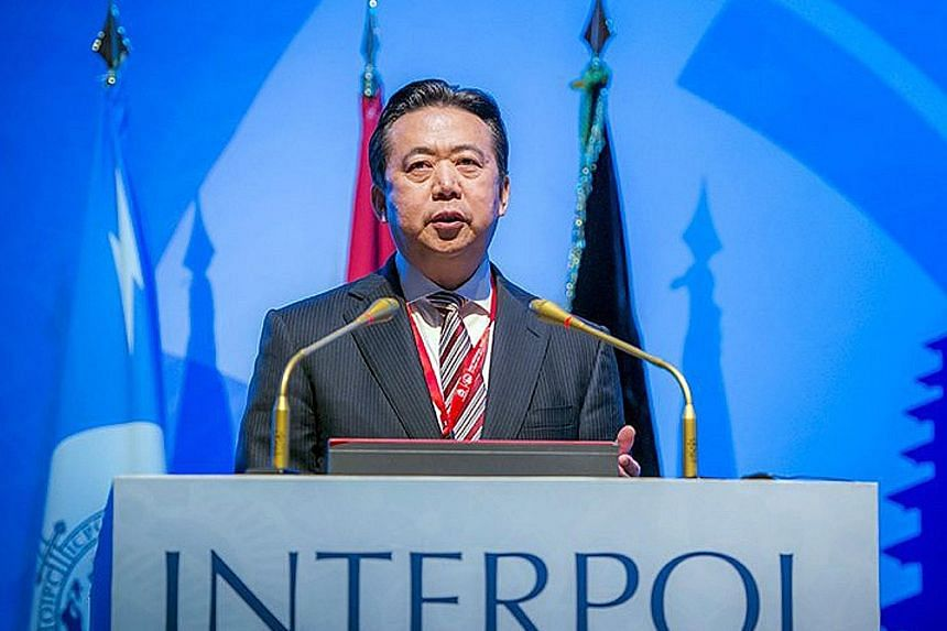Mr Meng Hongwei was last seen leaving for China late last month from the Interpol headquarters in Lyon, south-east France, said a source.