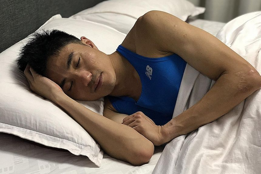 Despite a tight schedule with his residency programme and marathon training, Mok Ying Ren tries to sleep at least six to eight hours a day.