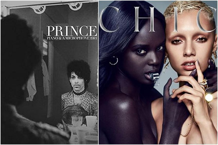 Piano And A Microphone 1983 (left), the first posthumous release from Prince, and disco legends Chic's latest and ninth album, It's About Time.