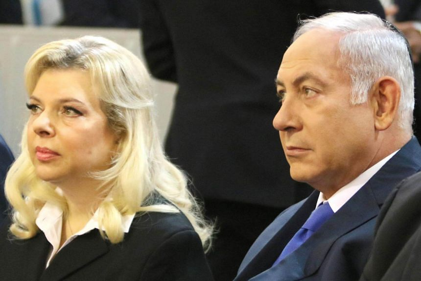Israel's Prime Minister Benjamin Netanyahu and his wife Sara Netanyahu visiting the the Choral Synagogue in Vilnius, on Aug 26, 2018.