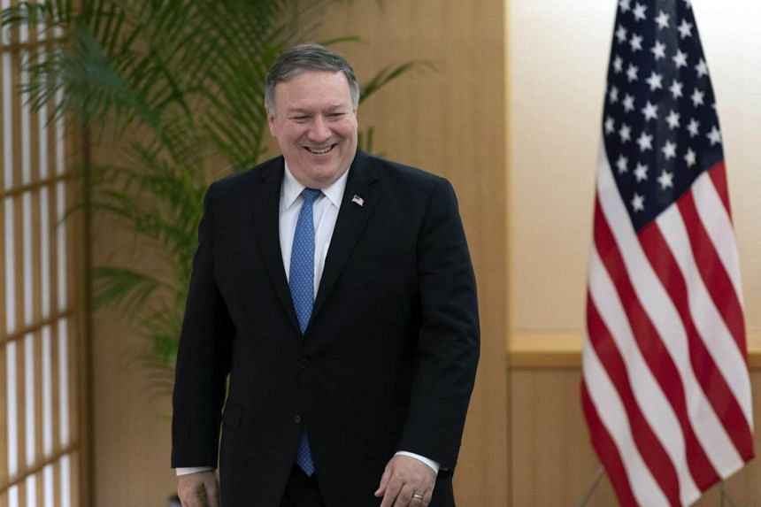 US Secretary of State Mike Pompeo at the Foreign Ministry in Tokyo, Japan, on Oct 6, 2018.