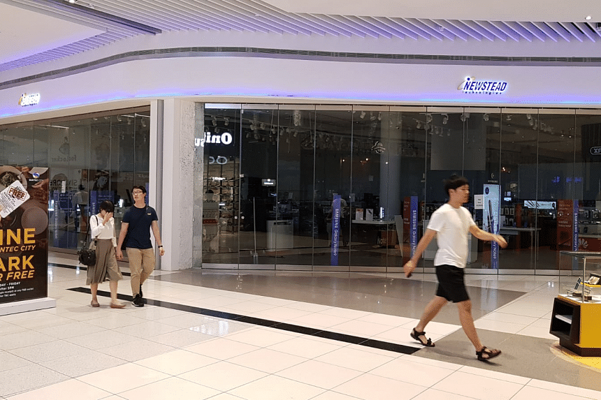 The Newstead outlet at Suntec City on Oct 8, 2018. Established in 1998, Newstead owns brands such as Digital Style, nubox, and @notebook.com, and has outlets in several shopping malls here.
