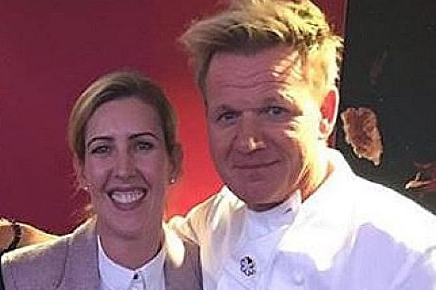Newly minted two-Michelin-starred chef Clare Smyth used to work with celebrity chef Gordon Ramsay (both above).