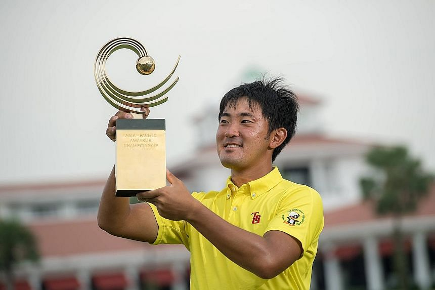 """After a """"pretty bad final round"""" two years ago, Takumi Kanaya finally got to lift the trophy at the 10th Asia-Pacific Amateur Championship yesterday."""