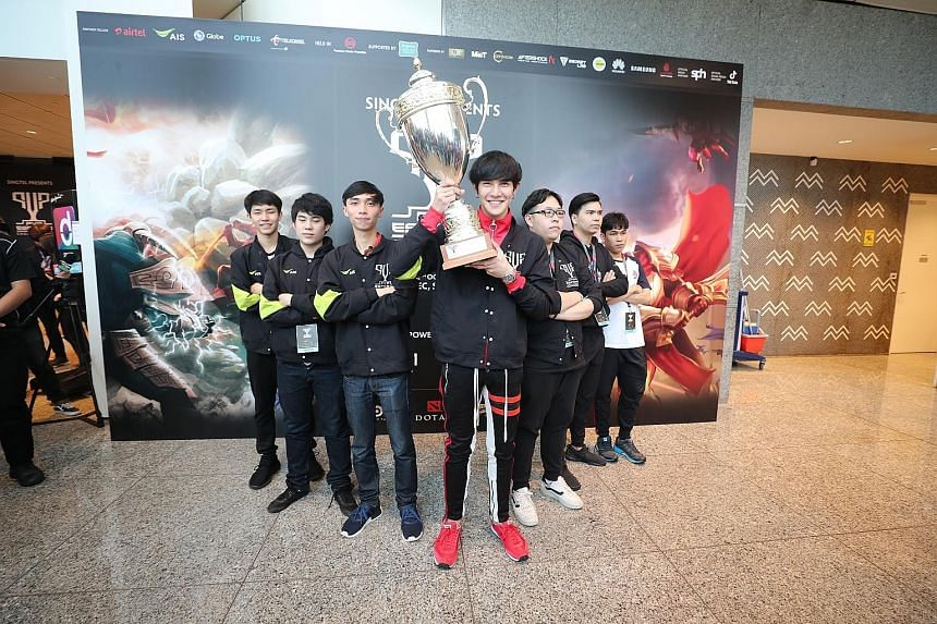 Team Alpha X from Thailand won one of two main events at the inaugural PVP eSports Championship yesterday. They took home the US$40,000 (S$55,300) top prize in the mobile battle arena game Arena Of Valor.