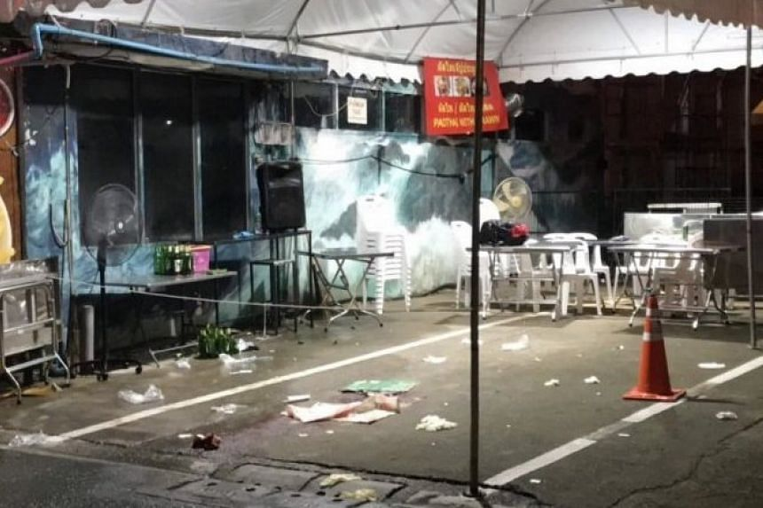 The shooting happened at 8.30pm on Oct 7 on a soi, or side-street, behind the Centara Watergate Pavillion Hotel where tourist coaches were parked.