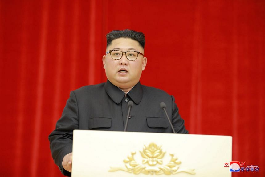 North Korean leader Kim Jong Un speaking during a banquet in Pyongyang, North Korea, on Sept 19, 2018.