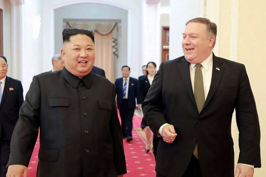 US Secretary of State Mike Pompeo (right) said he and North Korean leader Kim Jong Un discussed denuclearisation steps to be taken by the North.