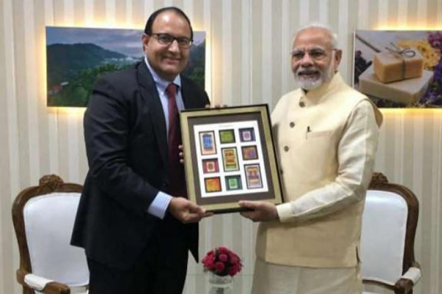 Singapore's Minister-in-Charge of Trade Relations S. Iswaran called on India's Prime Minister Narendra Modi, on Oct 7, 2018.