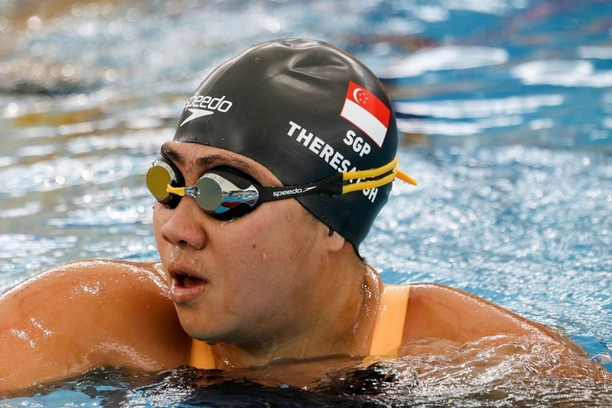 Theresa Goh taking part in a swimming event at the National Aquatic Centre in Bukit Jalil, Malaysia, on Sept 20, 2017.