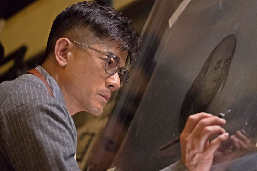Aaron Kwok (above) plays a counterfeit artist in Project Gutenberg, written and directed by Felix Chong.