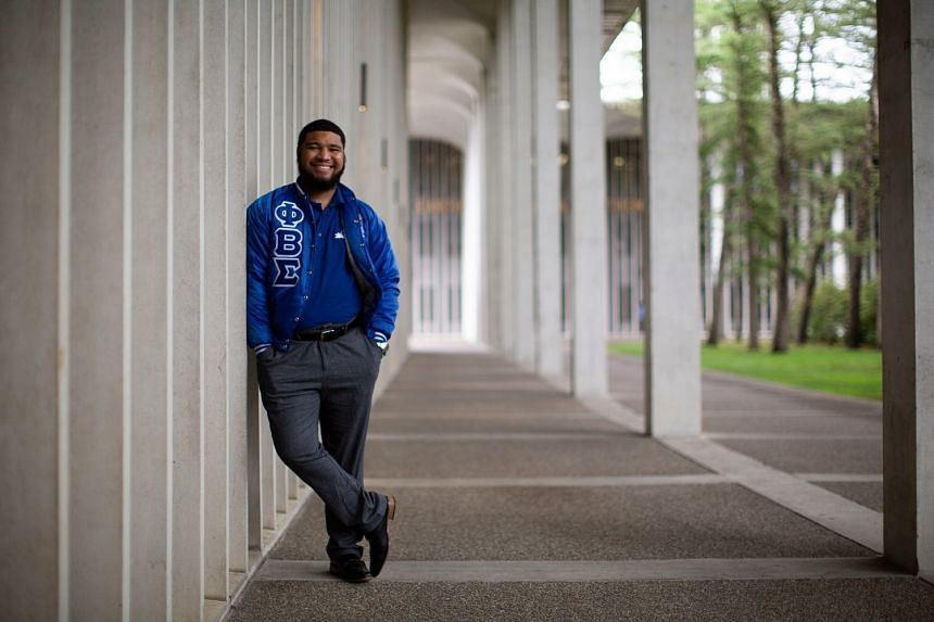 Mr Moises Urena, a junior at the State University of New York at Albany, is among young people who have benefited from PeerForward, which helps students from low-income backgrounds plan for success after high school. He now mentors others and plans t