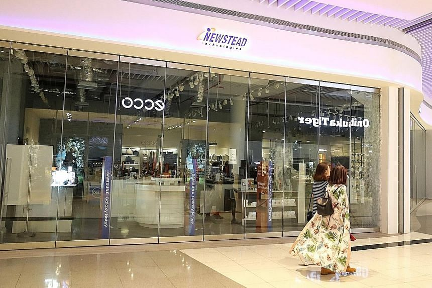 A Newstead outlet at Suntec City Mall. The company owns brands such as Digital Style, Nubox and @notebook.com.