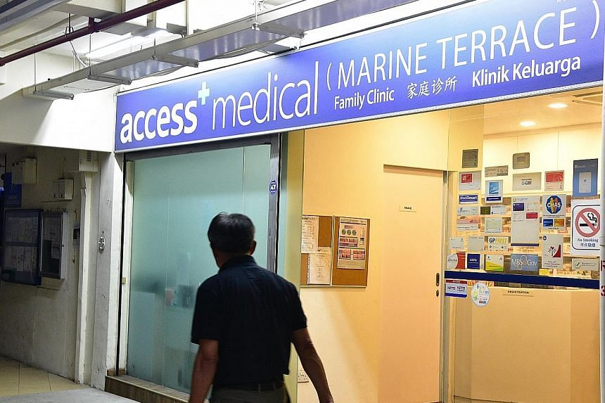 "Ten Access Medical clinics, including this one in Marine Terrace, cannot make Chas claims from Oct 23. MOH said audits of the 10 ""have revealed severe non-compliance"". SMC will also be asked to look into some doctors' behaviour."